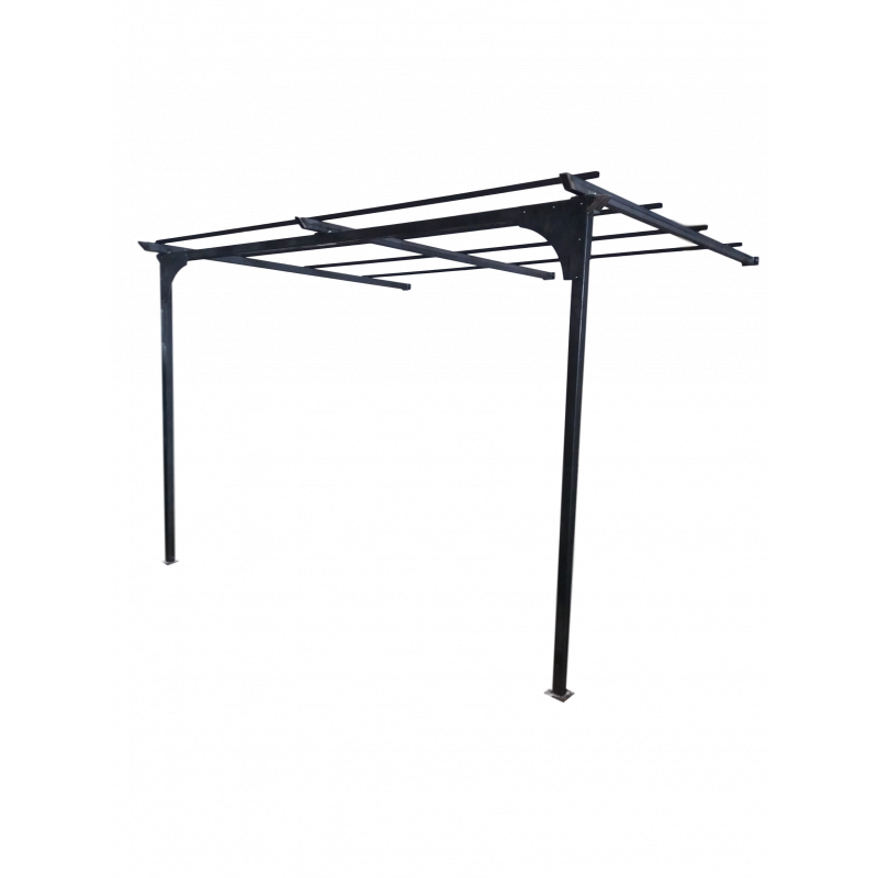 Pergola en applique messine l: 4.0 m  pr:3.0 m