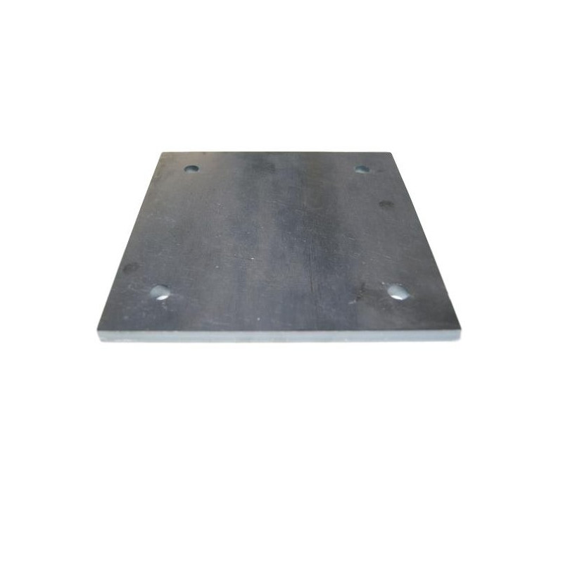 Platine 150 x 150 ep  8.5 mm trous
