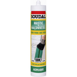 Silicone mastic maconnerie blanc 310 ml