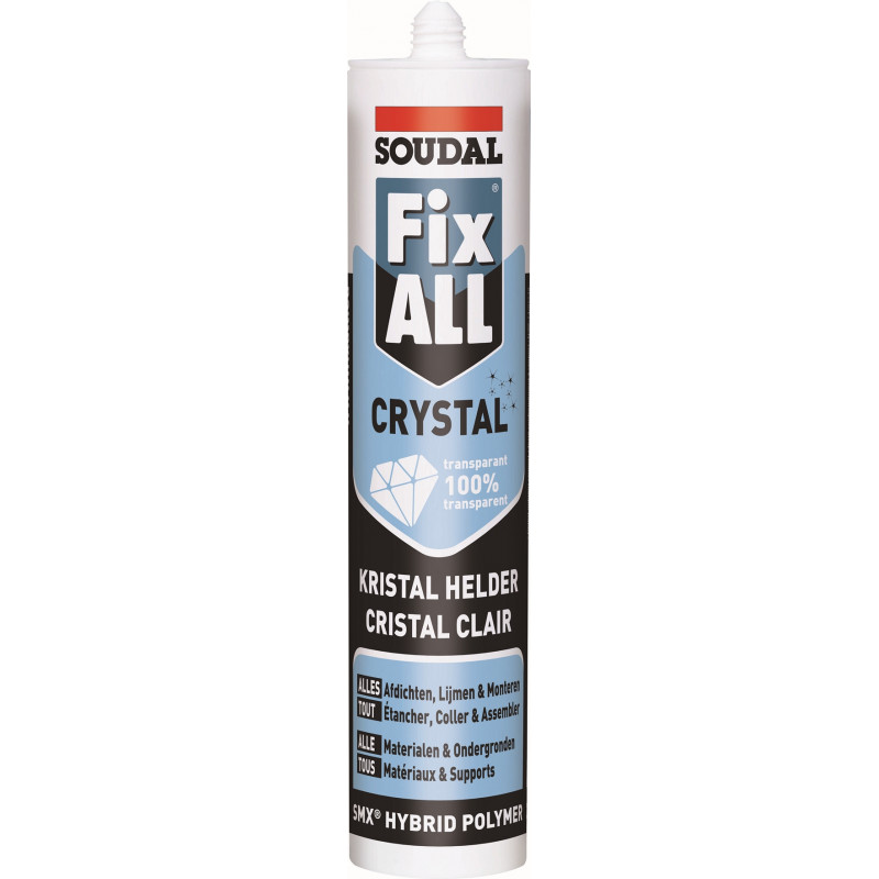 FIX ALL CRYSTAL colle transparente