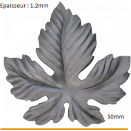 Feuille 50 mm ep 1.2 mm